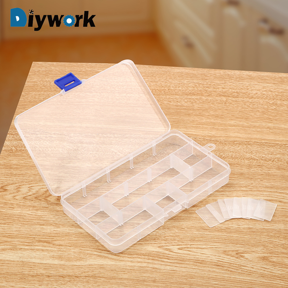 DIYWORK Plastic Container Box Toolbox Tools Case Component Transparent Storage Box Storage Box PP Material Electronic
