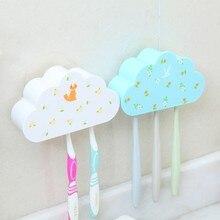Creative cloud modeling suction toothbrush holder wall hanging shelf 14*4.5*8cm Free Shipping