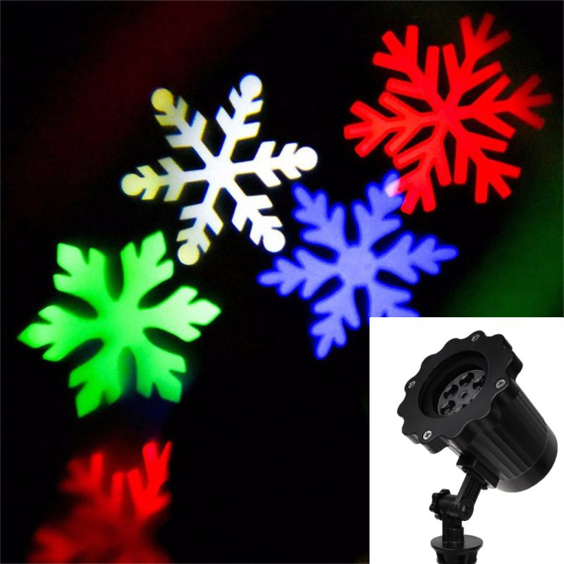 10x9.5cm Waterproof Led Stage Light Ac100 240v Laser Snowflake Pattern Projection Lamp