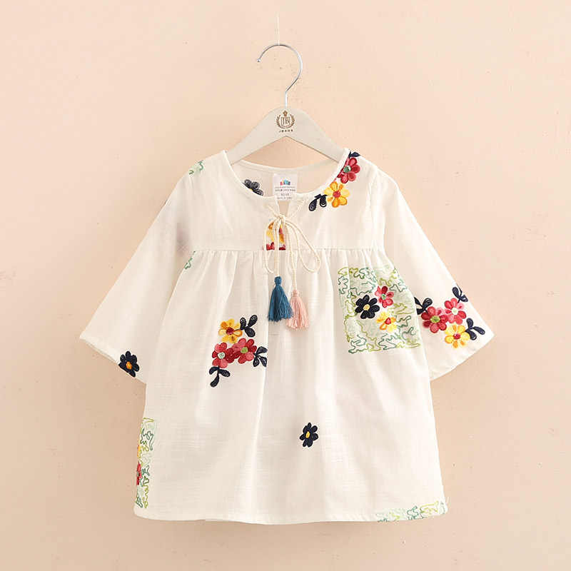 7fb634857f5 ... 2018 Весенняя одежда для детей Блузки для маленьких девочек детская  одежда с длинными рукавами ткани топ ...