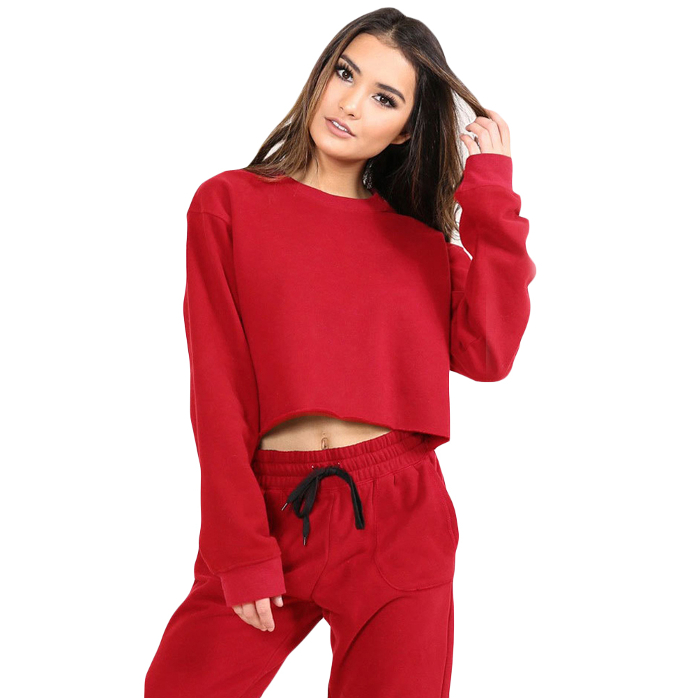 Cropped Tops Sweatshirts