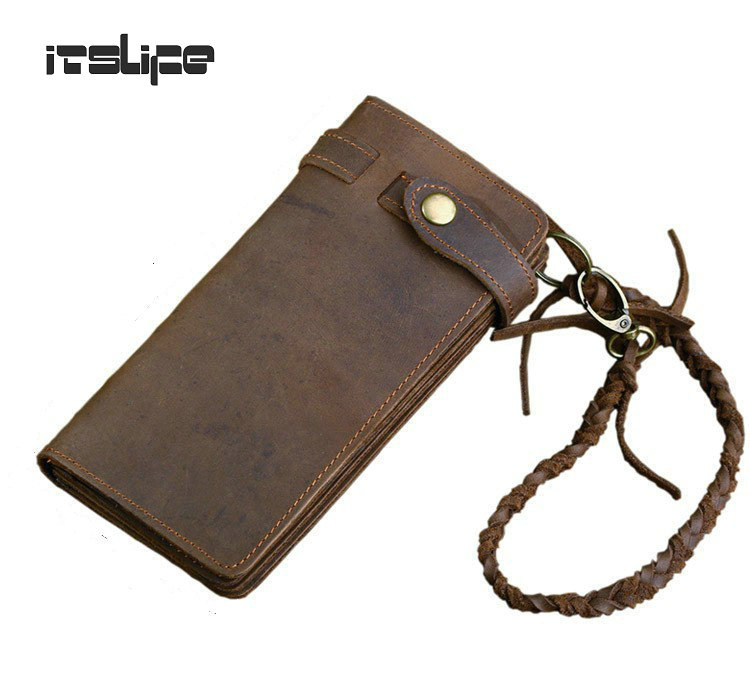 Designer Chain Leather wallet, long styls