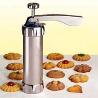 Cookie presse Machine Biscuit fabricant gâteau faisant décoration pistolet cuisine aluminium glaçage ensembles