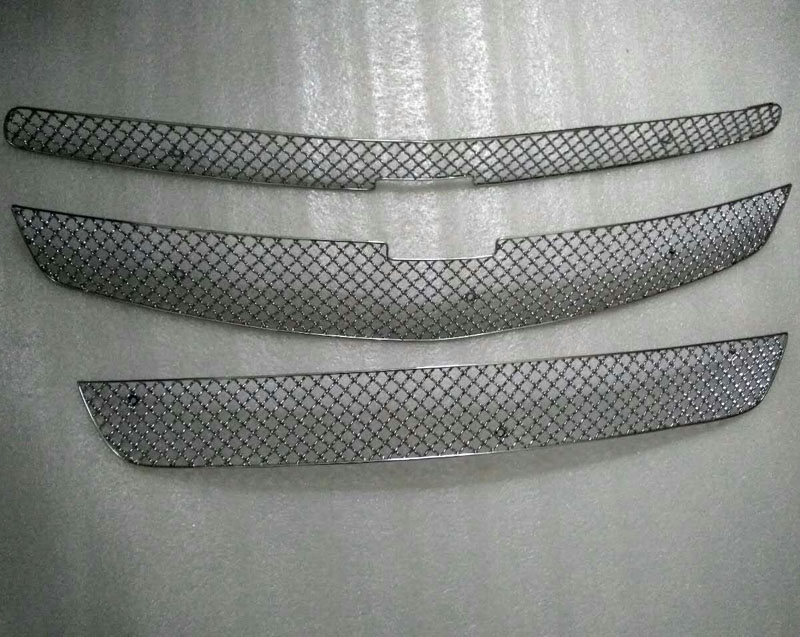 Honeycomb Front grill grille grid insert grid For Chevrolet Malibu 2012-2015 3PCS silver front mesh grilles trim grill cover insert shell honeycomb fit for jeep patriot 11 2015