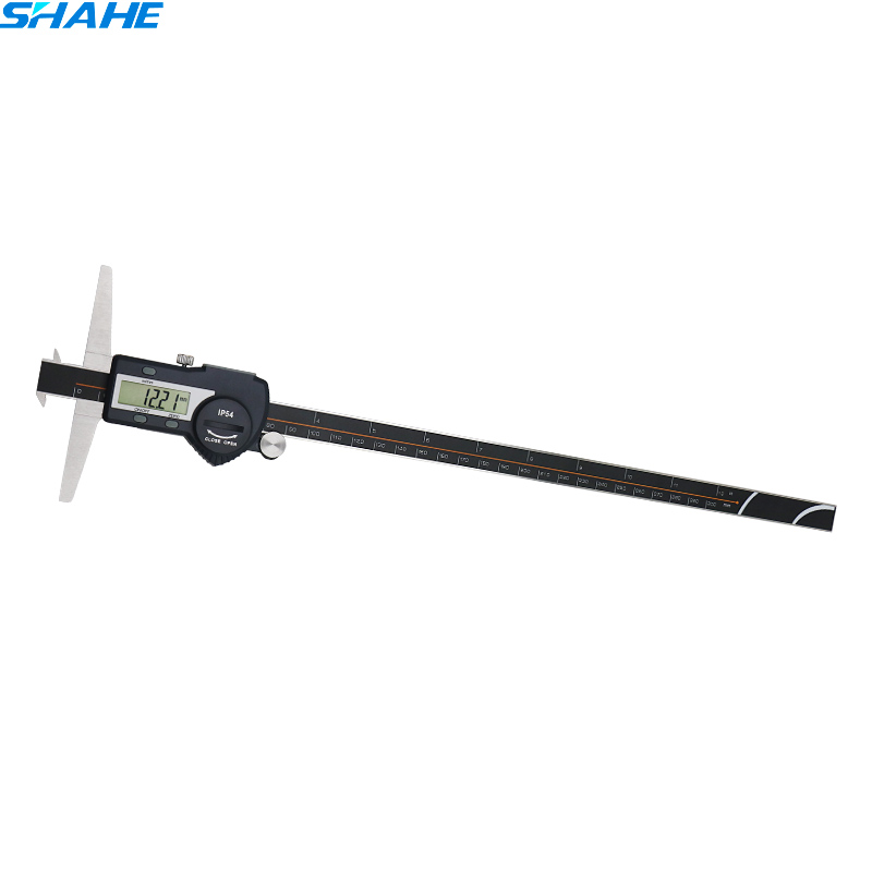 цена на shahe vernier caliper 300 mm electronic ruler double hooks depth caliper vernier gauge micrometer digital calliper