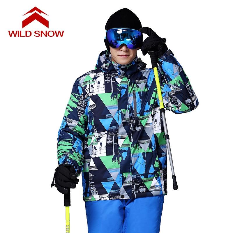 WILD SNOW 2017 Nowe Zimowe Kurtki Narciarskie Garnitur Mężczyźni - Ubrania sportowe i akcesoria - Zdjęcie 2