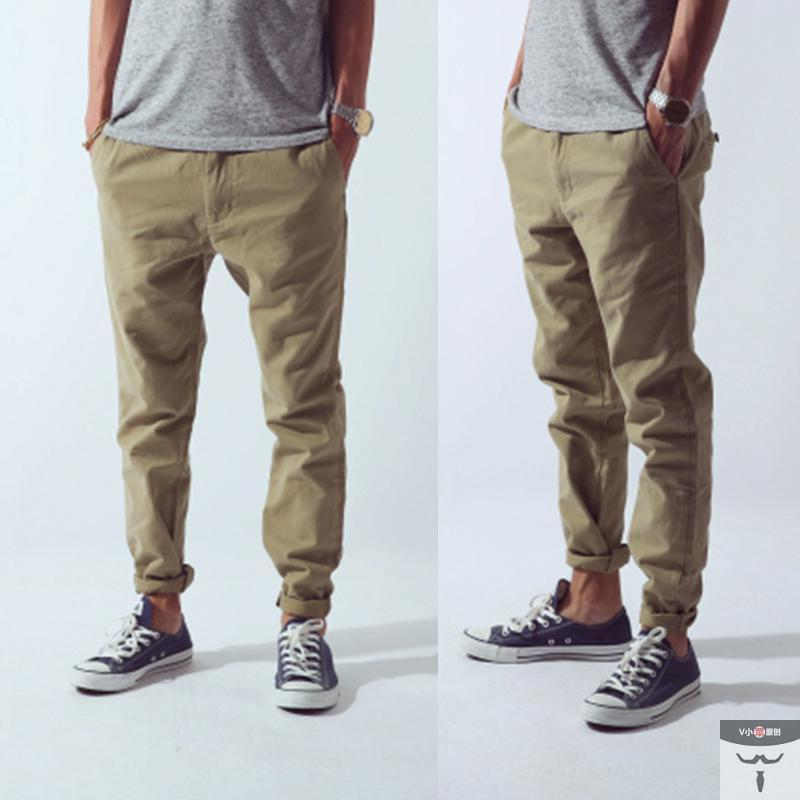 Chinos Black Men Clothing Styles Casual Men Fashion Slim Fit Dress
