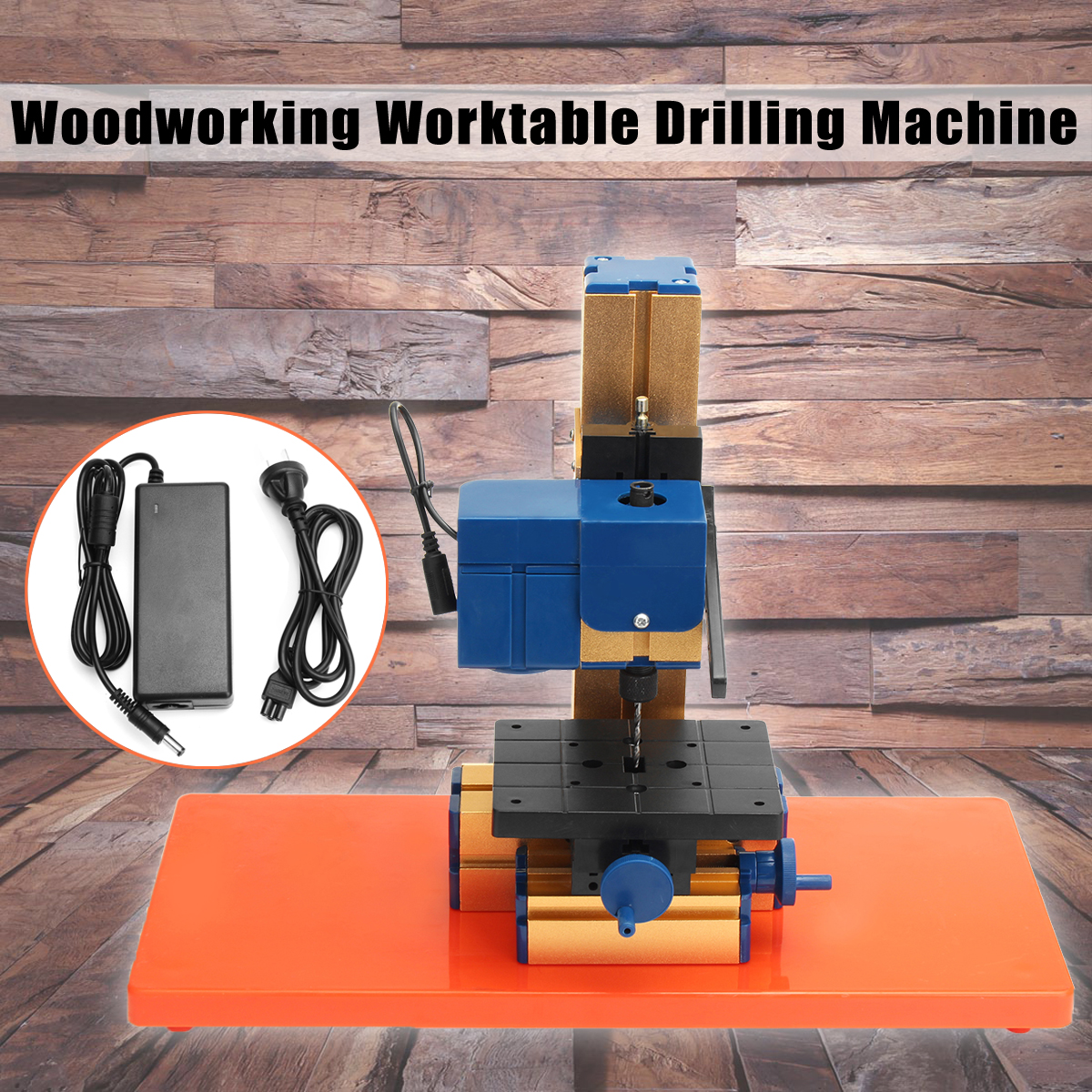 цена на Mini Wood Lathe DIY Woodworking Worktable Drilling Machine Hobby Electric Drill Power Tools 24W AC100-240V