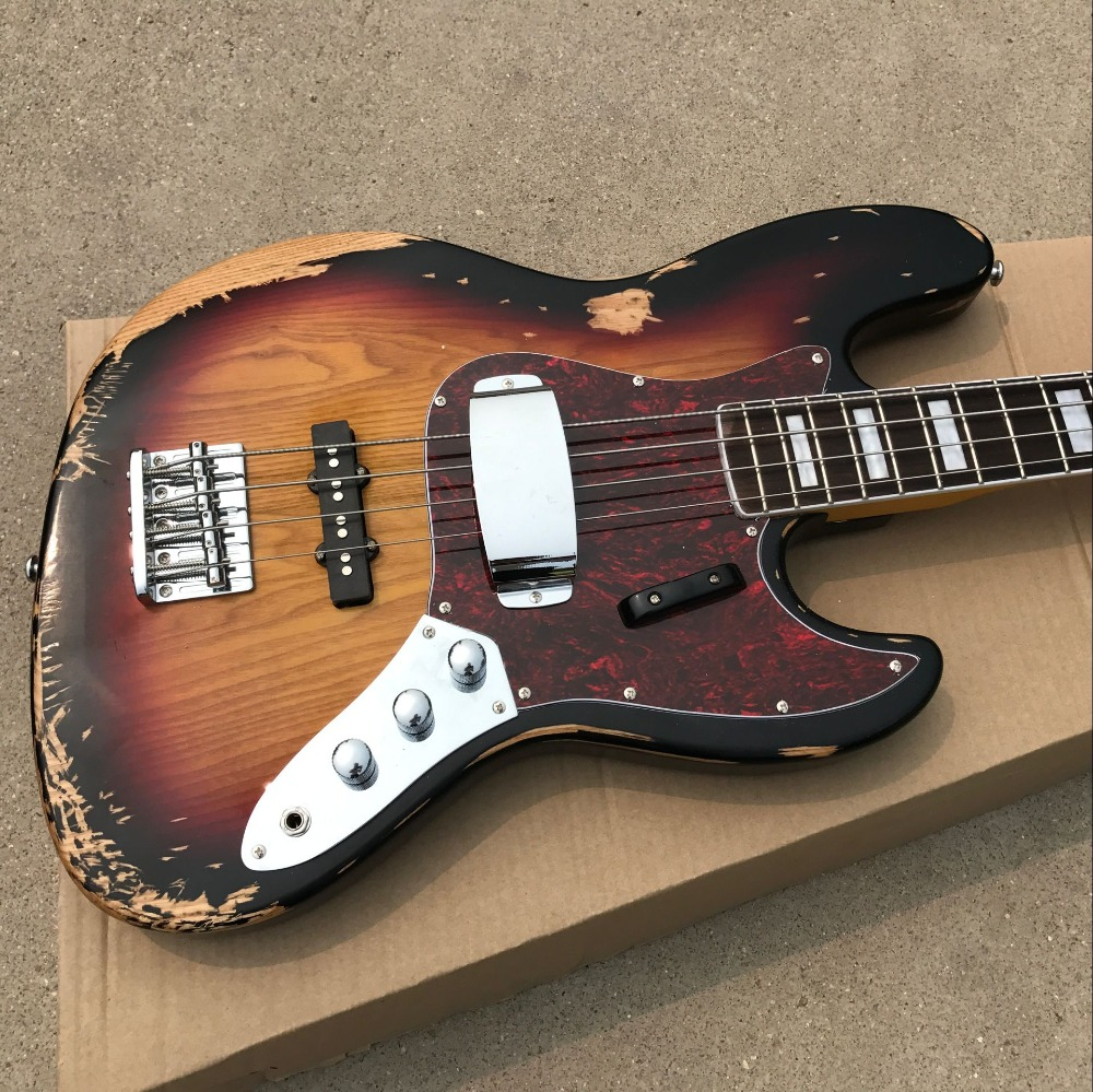 Circuito Jazz Bass : Hot sell relic jazz bass basswood body with strings