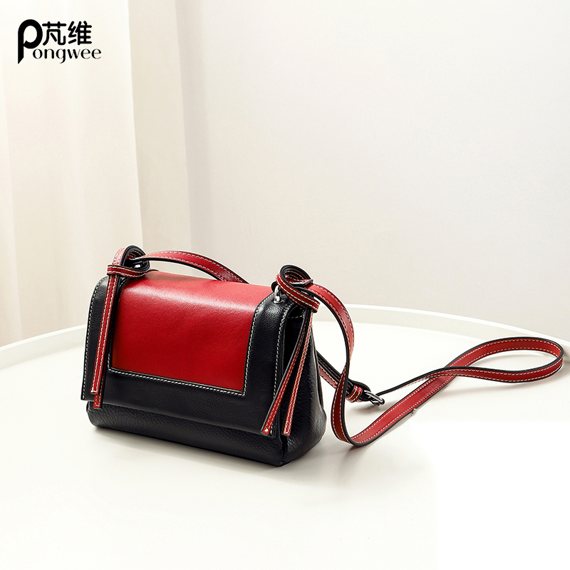 PONGWEE Women Shoulder Bag High Quality Genuine Leather Mini Bag Ladies Handbags Fashion Tote Women Bag Female Crossbody Bags female handbag bag fashion women genuine leather cowhide large shoulder bag crossbody ladies famous brand big bags high quality