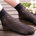 Velvet woven summer sexy mesh silk socks for female flowers hollow fishnetsocks breathable slip socks Sexy black retro socks