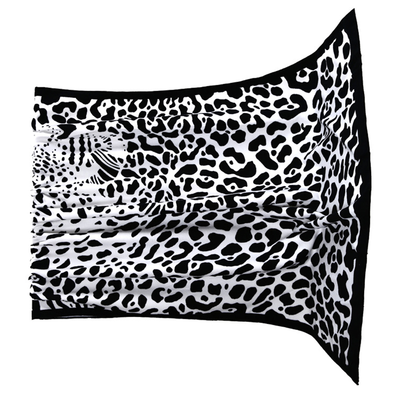 praia macio microfibra toalhas de impressão ambiental (leopardo)