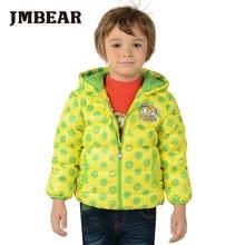 JMBEAR boys winter down coat 2016 new dot print parka long sleeve hooded jacket kids snowsuit