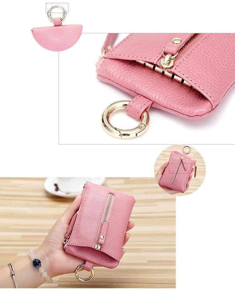 Women genuine leather key wallet 12