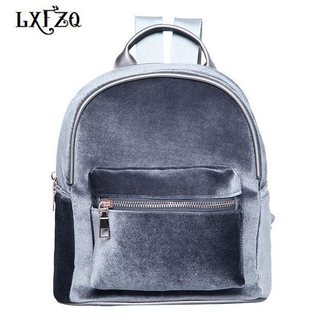 cb4635b4c92e Сумки для девочек модные rugzak бархатные женские рюкзаки портфели  подростков школьный ранец плюшевые маленькие рюкзаки mochila