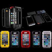 Luxury Dirt Proof Shockproof Waterproof Case For Iphone 4 4s 5 5s Heavy Duty Armor Aluminum