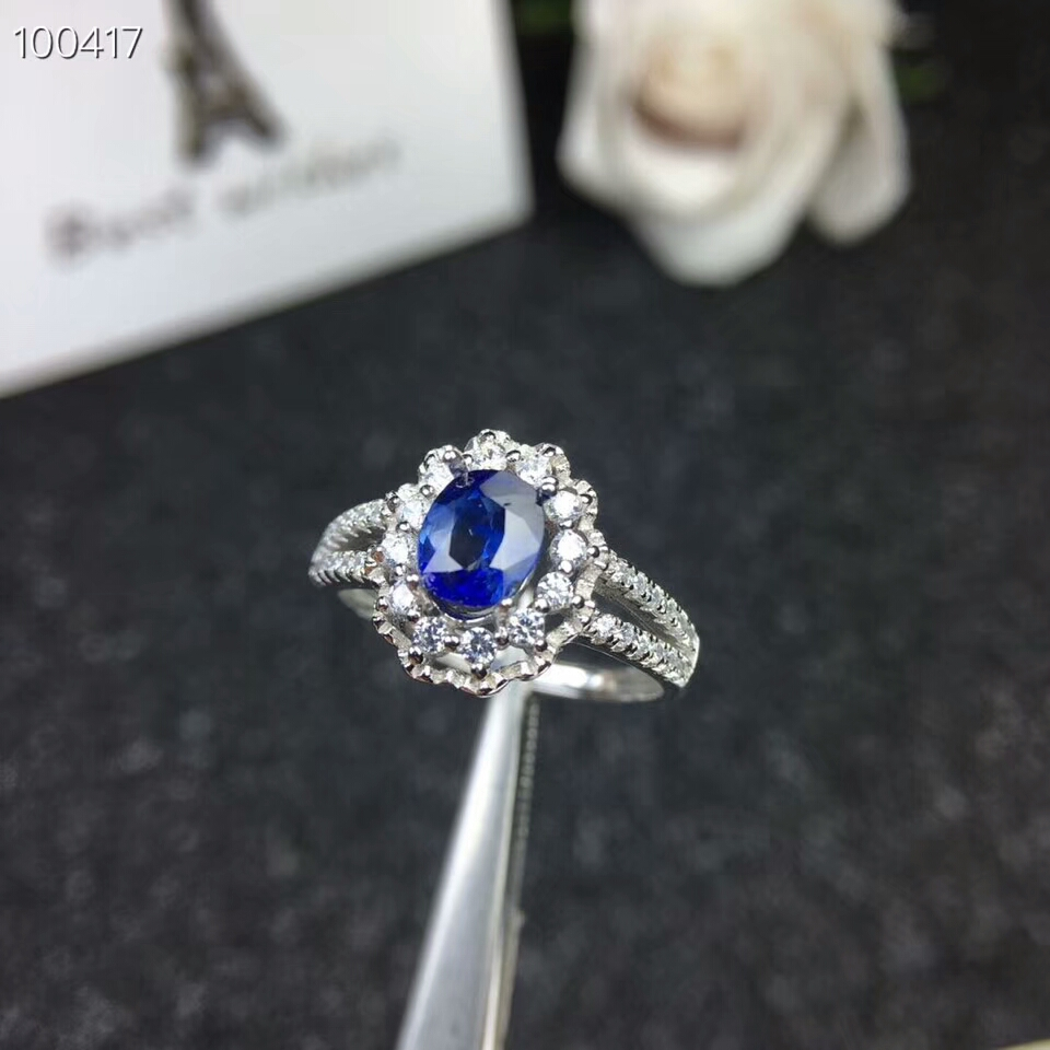 KJJEAXCMY fine jewelry 925 pure silver inlaid natural sapphire Ladies Ring Jewelry support test kjjeaxcmy fine jewelry 925 sterling silver inlaid natural amethyst ring wholesale opening ladies adjustable support testing