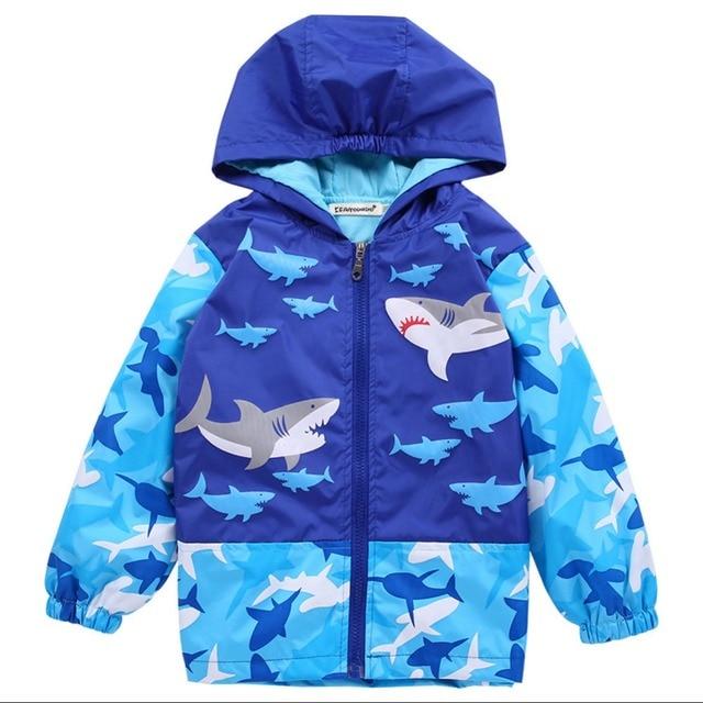 63e849fc5dea 2018 New Baby Raincoat Shark Pirate Ship Toddler pattern Waterproof ...