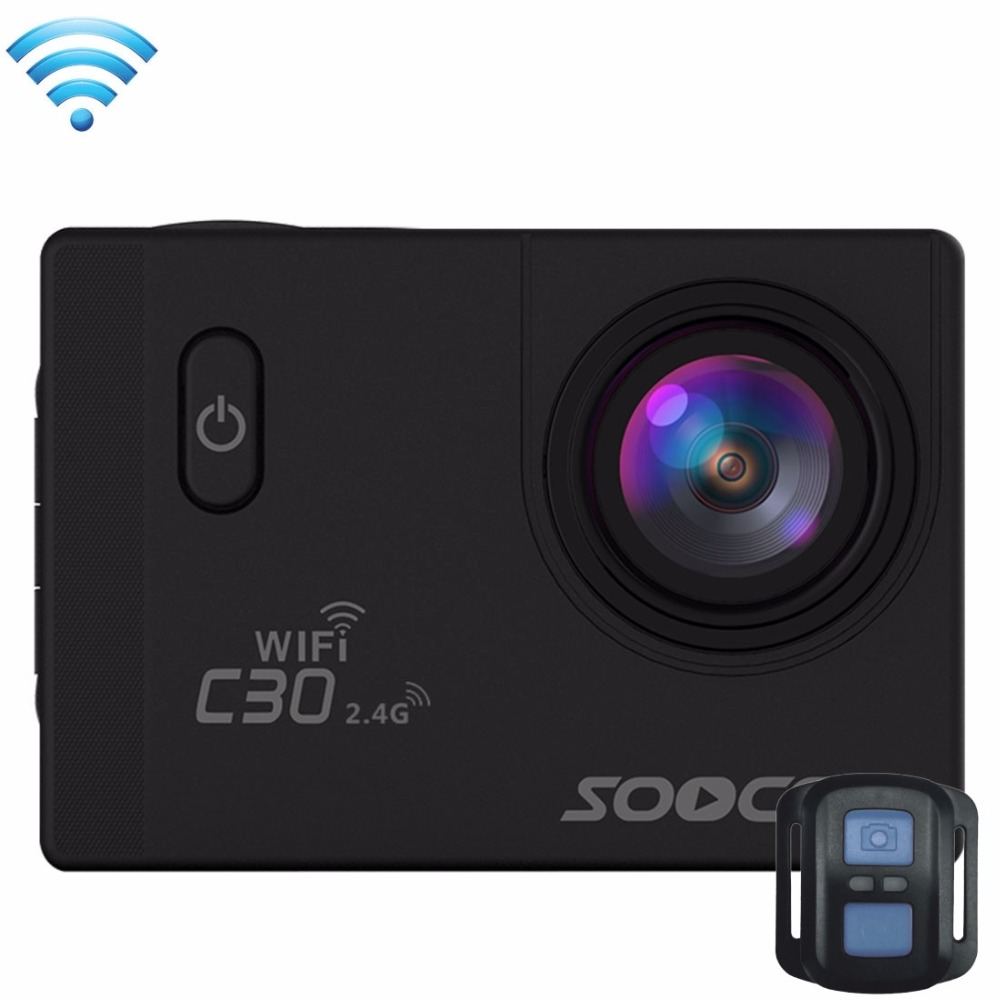 SOOCOO C30R 2' Screen 170 Degrees Wide Angle WiFi Sports Action Camera Camcorder with Waterproof Housing Case Remote Controller soocoo c30 sports action camera wifi 4k gyro 2 0 lcd ntk96660 30m waterproof adjustable viewing angles