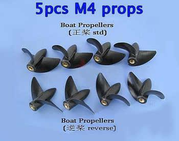 5pcs RC Boat M4 shaft propellers 2-blades positive/reverse nylon plastics  Diameter 35/39/42/45mm - DISCOUNT ITEM  5% OFF All Category
