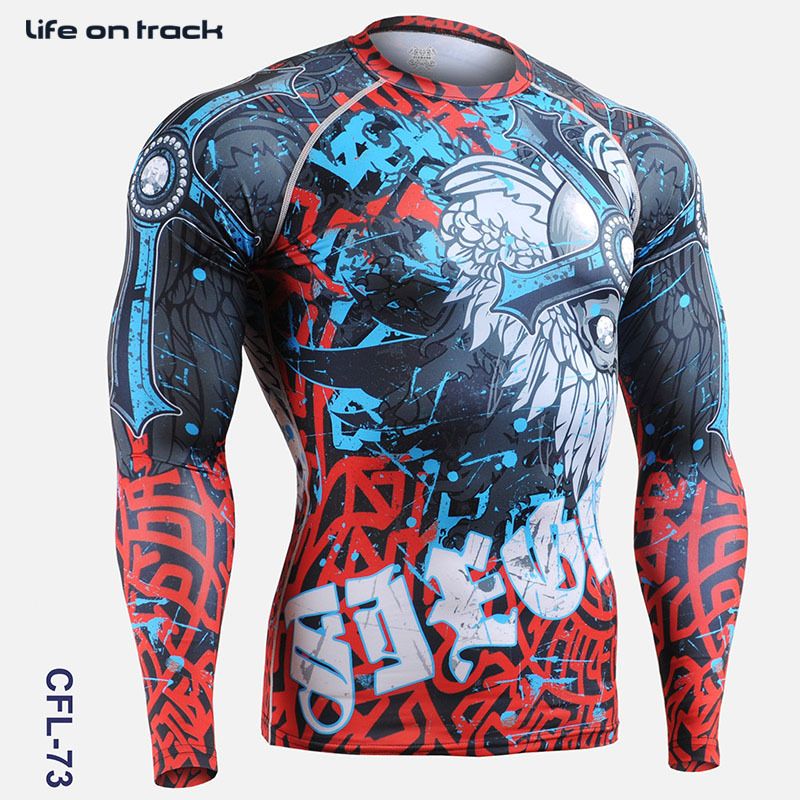PRO Skull Print Herren Radsport Skins Kompressionsstrumpfhose Shirts - Sportbekleidung und Accessoires - Foto 1
