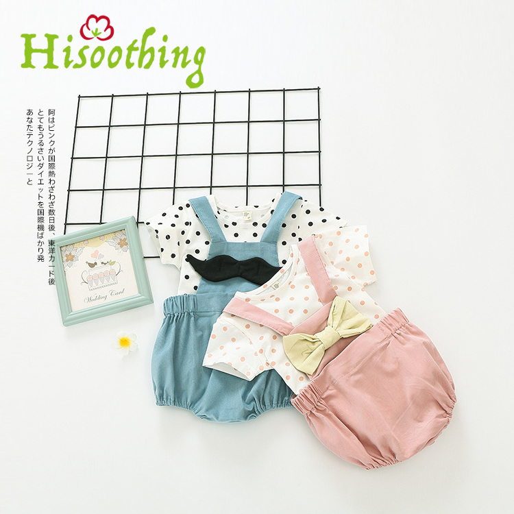 The Infant Child Female Explosion Of A Korean Version Of The New Two Piece Dot T-shirt Strap стоимость