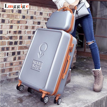 New Luggage Set High quality ABS PC Carry Ons add Suitcase Universal wheels Trip Carrier Trolley