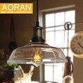 Luz pingente de vidro de cor clara, cor âmbar, cor cinza para escolher lâmpadas de pingente de vidro do vintage edison luzes pingente 110 V 220 V