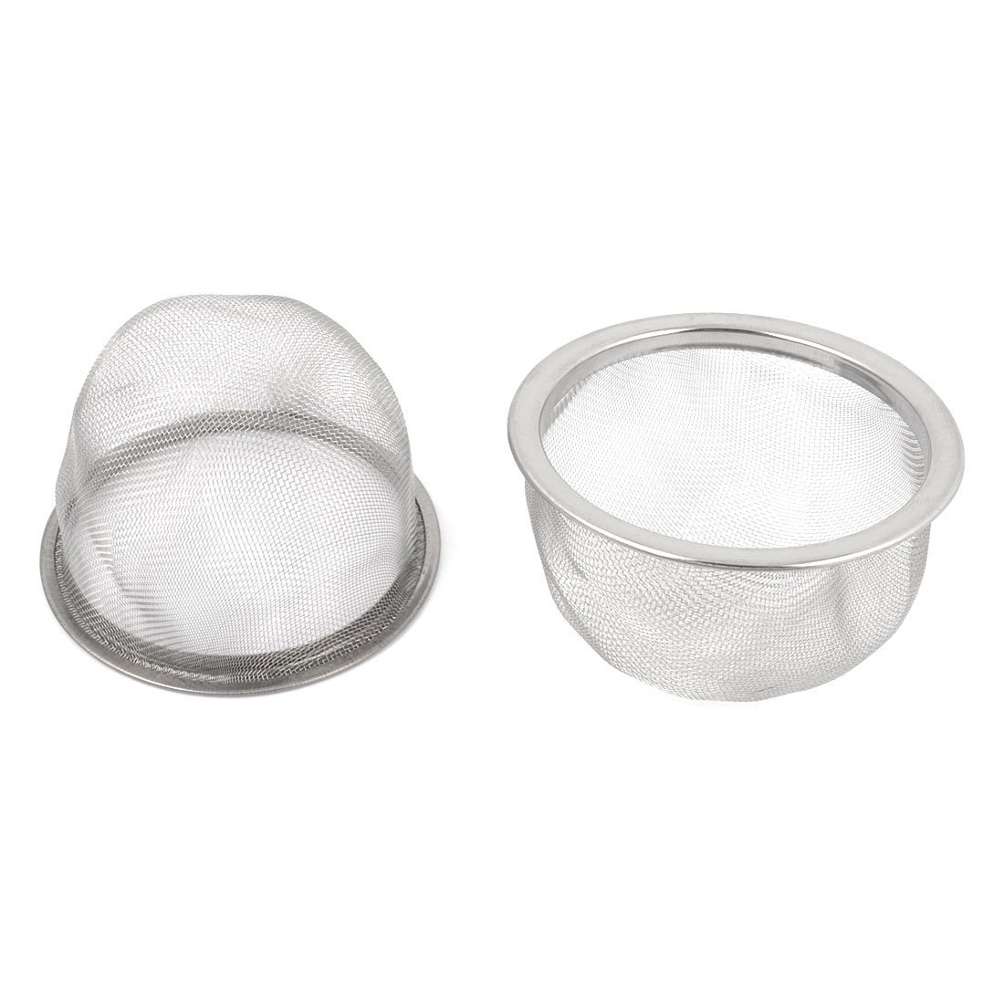 2 Pcs Stainless Steel Drainer Mesh Tea Strainer Teapot Filter Silver