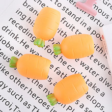 10pcs Elastic Simulation Carrot Squeeze Toy Squishy Food Toys Antistress Squishes Sensory Toys Magic Funny Joke toy Drop ship(China)