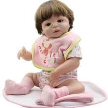 Full Body Silicone Vinyl Reborn Babies Girl Dolls 58CM /23 Inch Realistic Lifelike Baby Toy Christmas Gift