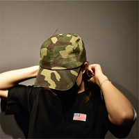 Vintage Water Washed Camouflage Baseball Caps Men Hip Hop Skateboards Unisex Snapback Cap Solid Cotton Summer
