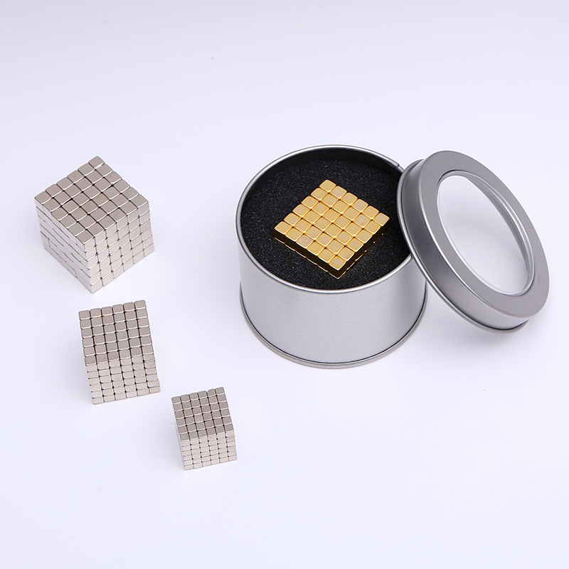 F3 F4 F5 Super Magnet Blöcke 3mm 4mm 5mm Magnetische kugeln Ndfeb Starke Leistung Magneten Neo Cube lustige Spielzeug Metall box Paket