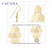 CACANA  Dangle Long Earrings For Women Mini Exquisite Sequin Bijouterie Hot Sale No.A774 A775