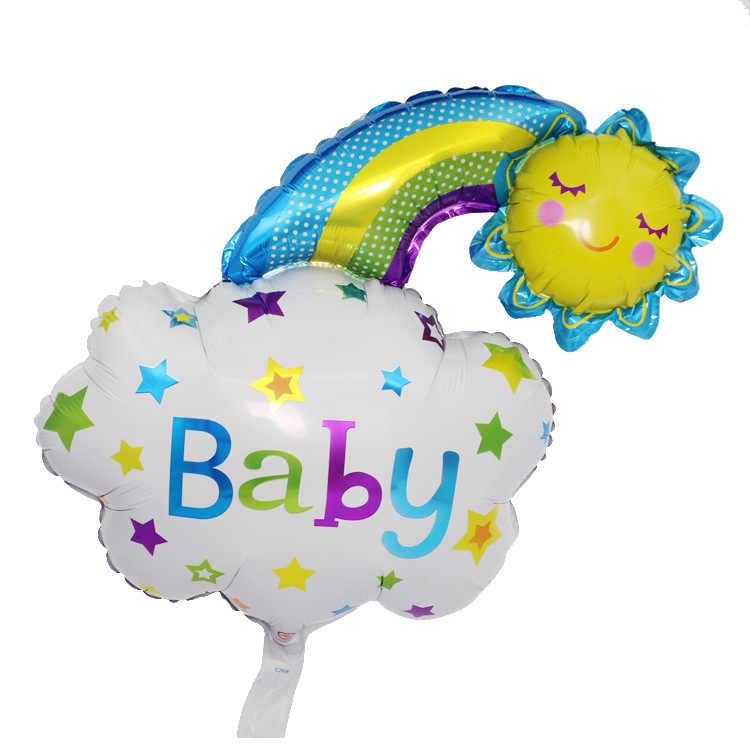 Gafas de sol de verano globo de hoja de girasol piña helado fruta globos Baby Shower fiesta de cumpleaños juguete decoración de boda