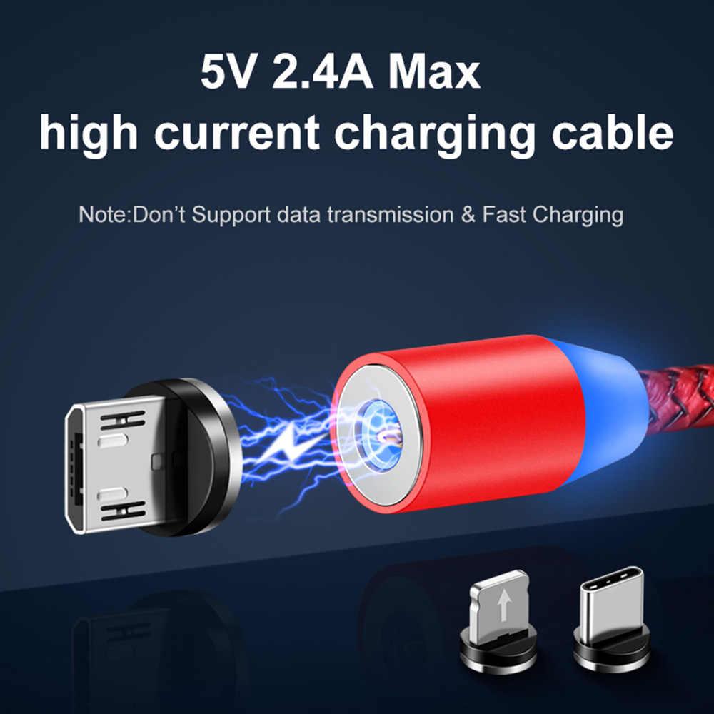 磁気ケーブル高速充電マグネットマイクロ USB とタイプ C ケーブル同期データ電話ケーブル急速充電マグネット充電ケーブル