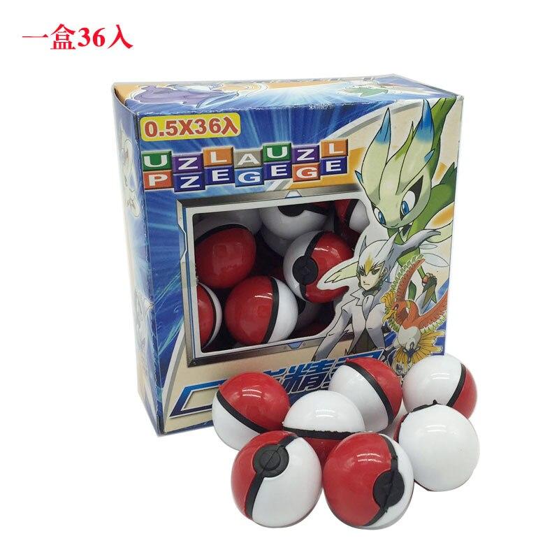 Bébé fans magique jouet pour animaux de compagnie 15 lot (540 pièces) Anime dessin animé Mini balle haute qualité PVC balle jouet avec elfe gratuit et autocollants jouets de poche - 2