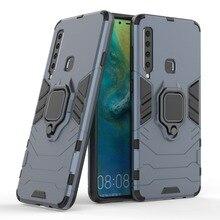 100pcs Hybrid Armor TPU+PC Defender Metal Ring Bracket Cover Case For Samsung S8 S9 S10 Plus A7 A8 A9 2018 J4 J6 J2 Core