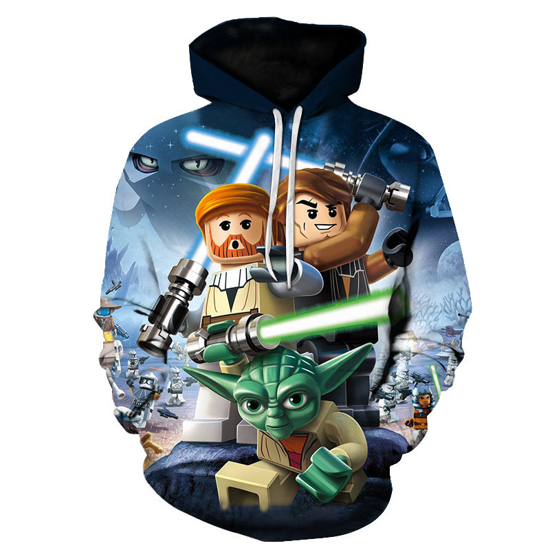 2018 Brand clothing Star Wars 3d Hoodies Cartoon jumper print Men Women funny sweartshirt Tracksuit Asian size Drop shipping