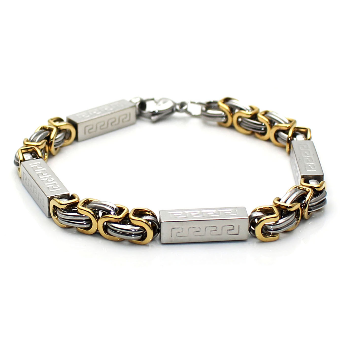 Korean Edition Jewelry New Personality Chain Titanium Steel Mens Bracelet GTL191