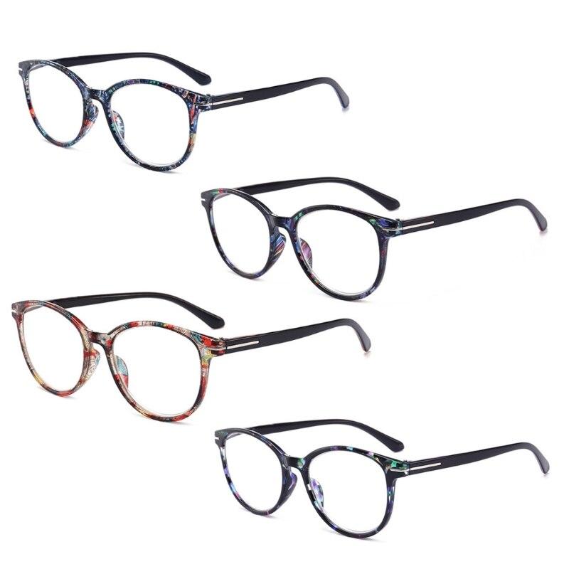 Gastfreundlich Mode Unzerbrechlich Lesebrille Frauen Männer Harz Gläser Transparent Brille Vintage Runde Lesen-gläser W515 Lesebrillen