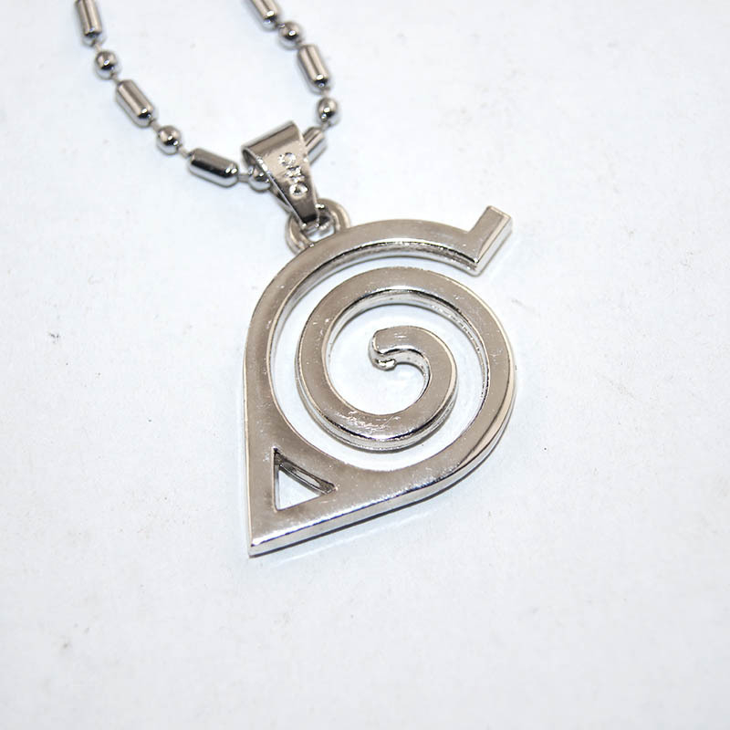 Anime jewelry Naruto Leaf Village Symbol Cosplay necklace ...