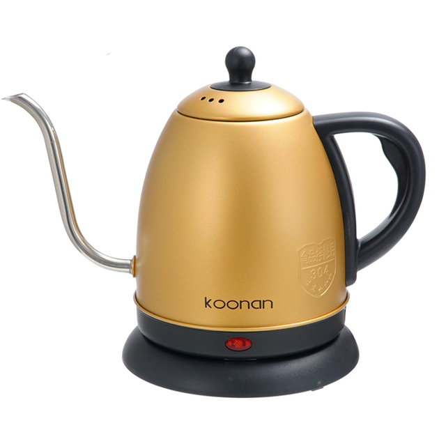 1L gooseneck Kettle Electric water Kettle  Stainless Steel For Drip Coffee Tea 1500W Off Automatically Automatic Water Teapot 5