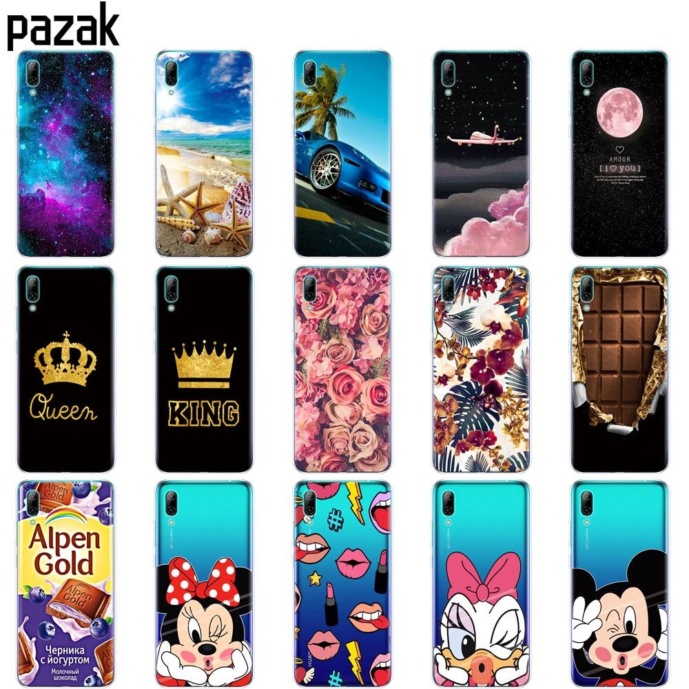 Huawei Y7 2019 Case Huawei y7 Prime 2019 Silicone TPU Cover Soft Phone Case For Huawei Y7 2019 Y 7 Y7Prime Y7 Prime 2019 Case ヒステリック ミニ 高 画質