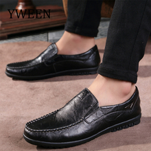 Купить с кэшбэком YWEEN New Men Loafers Spring Men's Casual Driving Shoes Split Leather Men Shoes 2018 Luxury Flats Shoes size Drop Shipping