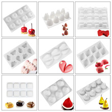 3D Cake Decorating Mold Silicone Molds Baking Dish Tools For Dessert Mousse Chocolate Patisserie Bread Mould Baking Accessories