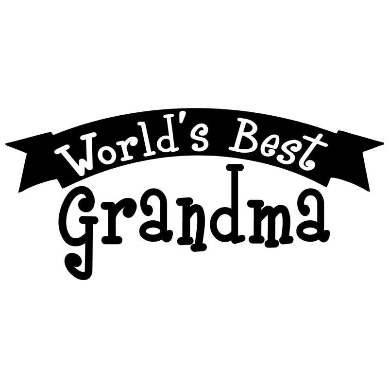 17X7.7CM WORLDS BEST GRANDMA Vinyl Graphic Decal Car Sticker Car-styling S8-0669
