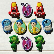 100pcs Inside Out Cartoon PVC Shoe Buckles Shoe Charms Fit Croc For Shoes&wristbands with Holes Furniture Accessories Kids Gifts