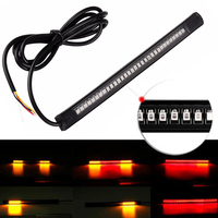 Universal Flexible Motorcycle Light 48 LED SMD Strip Car Styl Truck SUV License Plate Tail Turn