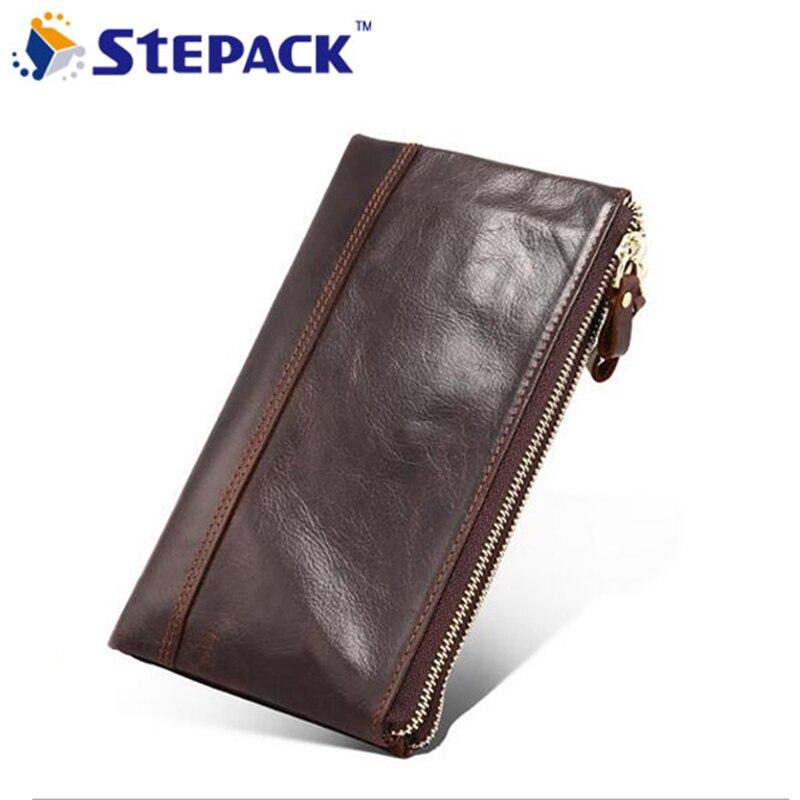 2017 New Arrival Mutil-Card Holders Soft Lip Wallet Leather Men Handbag Men Fashion Big capacity Billfold Business High Quality